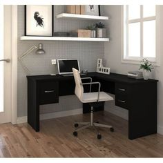 Premium Modern X Corner Black Office Desk – Home Office Design Corner Home Office Desks, Home Office Furniture, Office Decor, Office Items, Men Office, Office Inspo, Office Setup, Office Style, Furniture Ideas