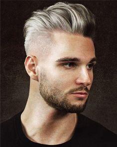 Grijs haar voor mannen, kapsel voor mannen en heren, de laatste trends op het gebied van haarmode, cool, stijlvol, altijd de laatste trends.