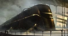 Image result for cyberpunk train