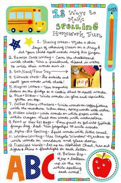 13 Ways to Make Spelling Practice Fun