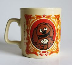 Vintage 1978 Muppet Show Rowlf Staffordshire Kiln Craft Collectible Ceramic Mug.