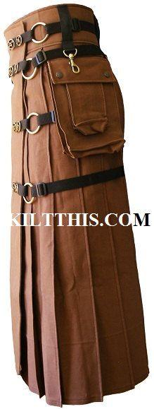 Full Length Modern Utility Kilt Contemporary Kilt INTERCHANGEABLE PARTS. $400.00, via Etsy. If I had 400 bucks to blow!