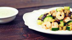 Dit garnalen recept is super simpel maar ó zo lekker. Wat heb je nodig: 1 courgette, 1 aubergine en een portie garnalen. Een voedzaam garnalen recept!
