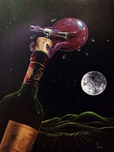 Something to Wine About 2008 by Michael Godard - Giclee on Canvas