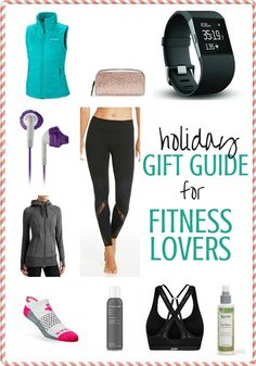Fitness Gift Guide Gift Ideas for Fitness Lovers Classic Christmas Gifts, Christmas Gifts For Men, Holiday Gifts, Fitness Gifts, Mens Fitness, Gifts For Wife, Gifts For Girls, Gifts For Runners, Sports Gifts