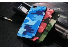 Blue, Red or Green iPhone 6 Camo Silicone Bumper Case at   mobilephonecases.co.nz   #MobilePhoneCases #CellPhoneCases #iPhoneCases #iPadCases #SamsungGalaxyCases #Blue #Green #Red #iPhone6