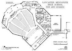 Theater Design : 7 Basic Rules for Designing a Goo Auditorium Plan, Auditorium Design, Theater Architecture, Architecture Plan, Futuristic Architecture, Theatre In The Round, Theater Plan, Ing Civil, Acoustic Design