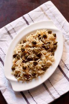 aloo choliya pulao recipe, aloo choliya pulao - green chickpea, rice and potatoes