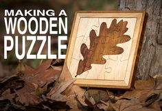 How to make a 9-piece Wooden Puzzle, with Iroko and Sycamore wood.