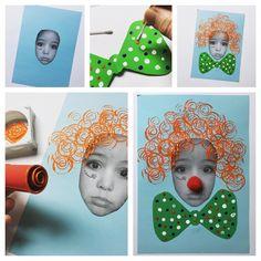 """Bastelbild """"Ich als Clown"""""""