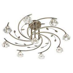 SIERRA - stropné svietidlo - antický bronz+sklo - ø 760mm