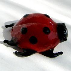 Ladybird Russian artist hand-made glass figurine