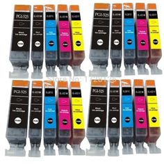 20 Compatible CLI-525 PGI-526 Ink Cartridges for Pixma MG5350 MG6100 MG6120 MG6150 Printers
