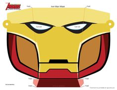 Fashion and Action: Iron Man Printable Paper Mask - Easy IM3 Premiere DIY Costume