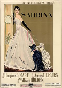 Sabrina Vintage Movie Poster || #Humphrey_Boghart #Audrey_Hepburn #movie #1950s #star
