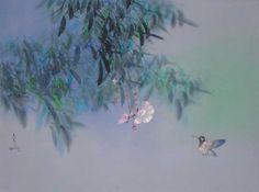 "Watercolor ""Delightful Flight 1980"" by David Lee"