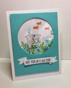 40 best shark birthday card ideas images on pinterest in 2018 creating with spirit stretch your stamps day 10 m4hsunfo
