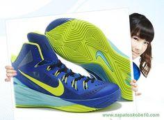 tenis de basket Nike Hyperdunk 2014 Borland / fluorescent Verde / Azul 653640-003 Masculino
