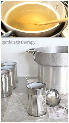 DIY Candles in Cans via Garden Therapy
