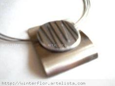 Collar de Acero y Aluminio grabado