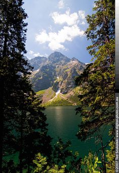 """Morskie Oko, which literally translated to English means """"The of eye of the sea"""" is the largest post ice age lake in Polish Tatra Mountains. It is also one of the deepest. In fact its depth lead to a legend that the lake is connected with the sea and thus the name."""