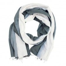Handwoven Dip-Dye Ombré Scarf in Slate Grey | Sseko Designs Perfect fair trade gift for mom/sister/friend/me! http://urlt.ag/B4OTv #giveopportunity