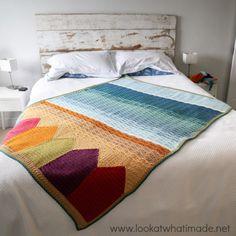 Summer in Swanage Crochet Blanket Pattern :http://www.lookatwhatimade.net/crafts/yarn/crochet/free-crochet-patterns/summer-in-swanage-crochet-blanket-pattern/