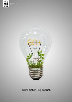 Small action. Big impact. Earth Hour 2013  Sat. March 23rd 8:30p.m. 1 hour without using electricity