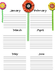 Check out my ables section for free copies of chore lists, schedules, calendars and !