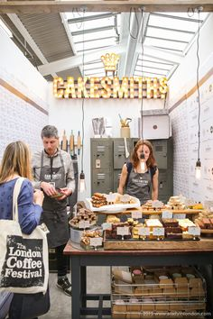 Cakesmiths stand at the London Coffee Festival, an annual celebration of all things coffee in Shoreditch.