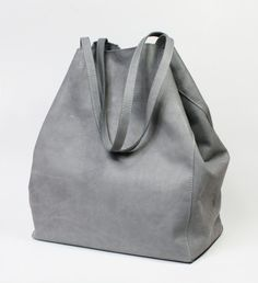 Nordic Shopping Bag Grey Leather by Zuzia Górska // Torba Nordic z szarej skóry (Zuzia Górska)