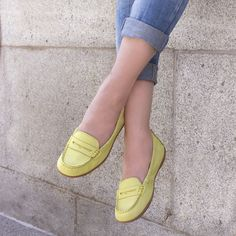 Pop your colour - Katherine Ceil - Hush Puppies - Yellow Mocc - Summer 2015 Hush Puppies, Tory Burch Flats, Hush Hush, Summer 2015, Colour, Pop, Yellow, Shoes, Women
