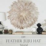 DIY Feather African JuJu Hat Tutorial