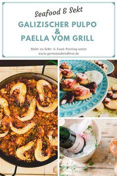 Sommernachtstraum: Zweierlei Pulpo und ein ganz besonderer Sekt Paella, Yummy Recipes, Yummy Food, Dim Sum, Pinot Noir, Tapas, Friday, God, Delicious Snacks