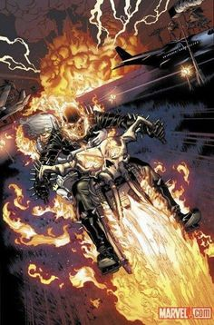 Heroes For Hire Ghost Rider Riding Motorcycle by Brad Walker Marvel Comics Poster - 61 x 91 cm Ghost Rider Johnny Blaze, Ghost Rider Marvel, Marvel Comic Character, Comic Book Characters, Comic Books, Marvel Comics Art, Marvel Heroes, Ms Marvel, Captain Marvel