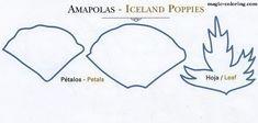 MAGIC-COLOREAR   amapola (Papaver rhoeas) plantilla de la flor