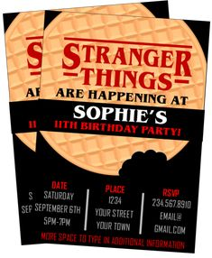 Things party Our exclusive Stranger Things Trivia Treasure hunt can be printed and played eve. Our exclusive Stranger Things Trivia Treasure hunt can be printed and played everywhere - test you and your friends knowledge of the strangest show we love. Stranger Things Monster, Stranger Things Theme, Stranger Things Halloween, Stranger Things Funny, Eleven Stranger Things, 14th Birthday Cakes, 13th Birthday Parties, Birthday Party For Teens, 11th Birthday