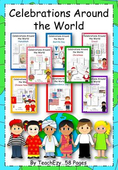 Celebrations around the World.this has just been updated with 7 more activities for the same price. Chinese New Year Poster, New Years Poster, Holidays Around The World, Around The Worlds, List Of Resources, Teaching Resources, Diversity Activities, Information Report, Harmony Day