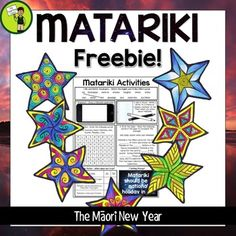 Help your students to learn about Matariki, the Mori New Year, and its significance to NZ (New Zealand) with this free activity sheet. It features seven activities on one page, and is ready to PRINT and GO!Activities included are:1. Mix and Match Vocabulary2.