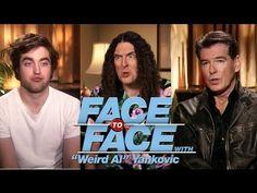 "▶ ROBERT PATTINSON & PIERCE BROSNAN go Face to Face with ""Weird Al"" Yankovic - YouTube"