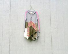 Funky lagenlook con estilo boho camisa / túnica de por CreoleSha
