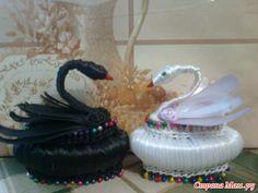 precioso cisne, de jabón y cintas  con paso a paso