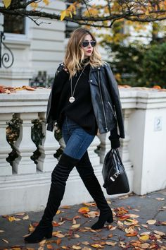 Over the knee boots. A huge trend this season, but one that fills me with dread. Sure they look great on the off duty models but how can us mere mortals pull off the style in real life? Blogger, Emma Hill shows that it is a lot easier than first thought.