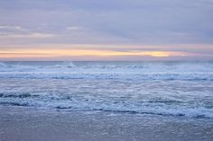 Last Light On The Pacific Ocean by Priya Ghose - The last bit of warm winter light reflects off gentle waves in the Pacific Ocean at McClures Beach, Point Reyes National Seashore.