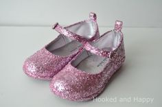 Make your glitter shoes