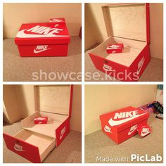 Giant Nike Sneaker storage box from a Toronto native. Follow me on Instagram @showcase.kicks to see what else I'm making