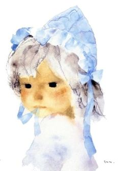 Chihiro Iwasaki. My favorite artist EVER!!!!!  My sister tracked down some prints when Adelee was born for her room. Love her forever for that. Children's Book Illustration, Portraits, Portrait Art, Art Boards, Watercolor Paintings, Watercolors, Art Drawings, Art World, Printmaking