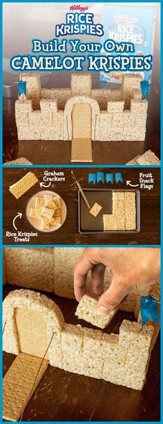 Bring your kid's favorite fairytale to life! With just a little bit of inspiration, you can turn your homemade Rice Krispies Treat into simple building blocks. It's a magical after-school snack for the family that's waaay easier than pulling some sword ou Rice Krispies, Rice Krispie Treats, Christmas Treats, Christmas Cookies, Decoration Buffet, Cake Candy, Food Crafts, Food Art, Kids Meals