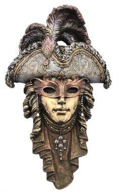 Veronese Bronze Venetian Wall Plaque Mask Statue Gift Home Decor Collectables £28.52
