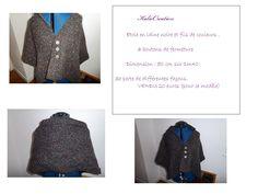 Etole en laine noire avec des fils de couleurs